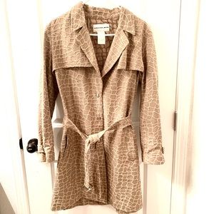RARE Thierry Mugler Rope Embroiedered Belted Coat